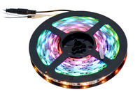 5-meter addressable RGB LED strip on included reel.