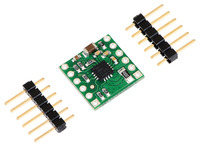 DRV8801 single brushed DC motor driver carrier with included hardware.
