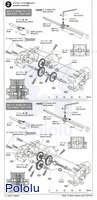 Instructions for Tamiya 70203 low-current gearbox page 2.