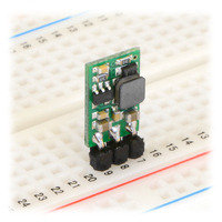 Pololu step-up voltage regulator U3V12Fx in a breadboard.