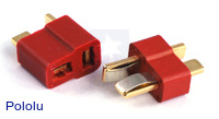 T Connector Male-Female Pair