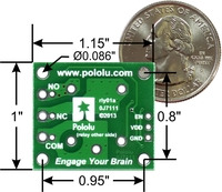 Pololu basic SPDT relay carrier with dimensions.