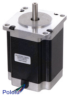 Stepper Motor: Bipolar, 200 Steps/Rev, 57×76mm, 3.2V, 2.8 A/Phase
