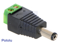 DC Barrel Plug to 2-Pin Terminal Block Adapter