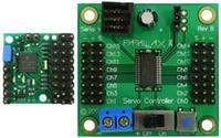 Pololu Micro Serial Servo Controller next to a Parallax Servo Controller.