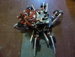 Simple 18-servo hexapod