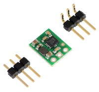 Pololu 3.3V step-up voltage regulator U1V10F3 with included optional header pins.