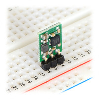 Pololu step-up voltage regulator U1V10F3/U1V10F5 in a breadboard.