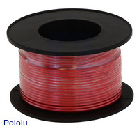 Stranded Wire: Red, 30 AWG, 100 Feet