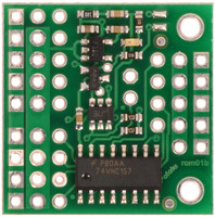 Pololu 4-Channel RC Servo Multiplexer (Partial Kit), top view.