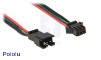 A close-up of the JST SM connectors for our WS2812B-based LED strips.
