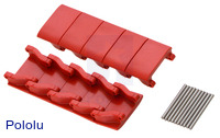 Miniature Track Link and Pin - Red (10-Pack)