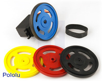 Plastic wheels that fit onto Futaba servo splines