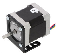 NEMA 17 stepper motor (item #1200) mounted with a Pololu stamped aluminum L-bracket for NEMA 17 stepper motors.
