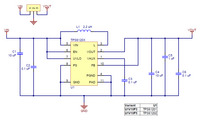 Pololu Step-Up Voltage Regulator U1V10Fx schematic diagram.