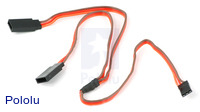 "Servo Y Splitter Cable 12"" Female - 2x Male"