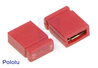 "0.100"" (2.54 mm) Shorting Block: Red, Top Closed"
