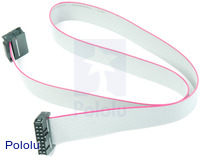 16-Conductor Ribbon Cable with IDC Connectors 20""