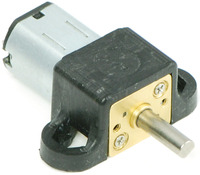 Micro metal gearmotor with mounting bracket.