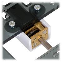 Pololu micro metal gearmotor bracket extended with micro metal gearmotor.