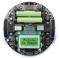 Pololu 3pi robot, top view.