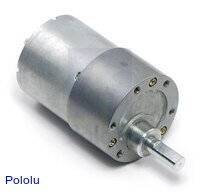 19:1 Metal Gearmotor 37Dx52L mm